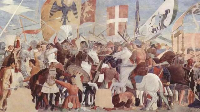 Batalla entre el ejército de Heraclio y el ejército persa comandado por Cosroes II (1452).