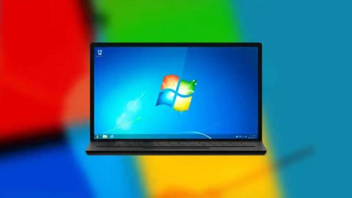 Ordenador con Windows 7.