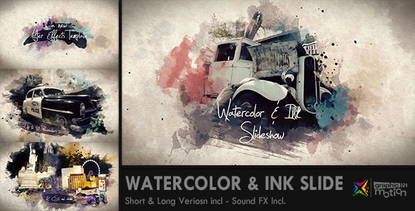 Watercolor & Ink Slideshow by graphicINmotion | VideoHive