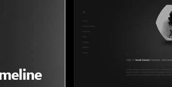 Grabs Full Pixels » CV Timeline by brkor   ThemeForest preview png