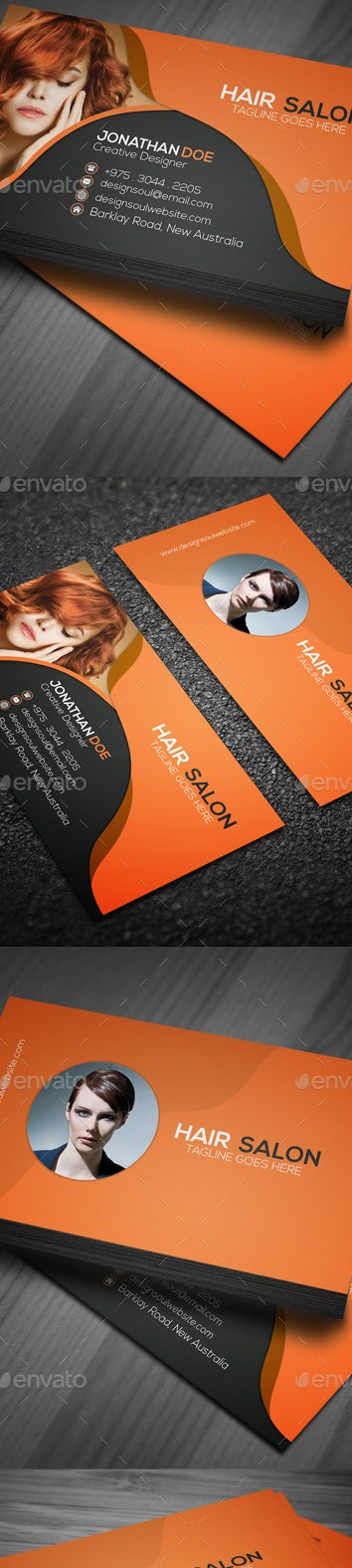 Grabs Full Pixels » Hair Salon Business Card by designsoul14   GraphicRiver Hair Salon Business Card   Industry Specific Business Cards