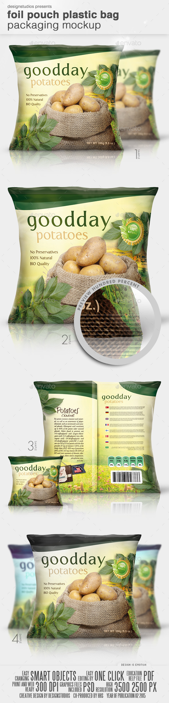 Aluminium foil pouch mockups, coffee paper pouch, food and milk pouch packaging mockups. Foil Pouch Plastic Bag Packaging Mock Up By Designstudios Graphicriver