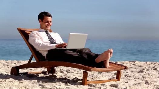 Image result for using laptop at beach