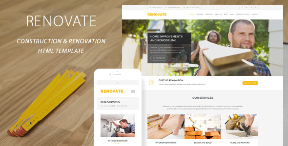 removate - Construction renovation template