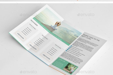 Yoga Brochure Graphics  Designs   Templates from GraphicRiver