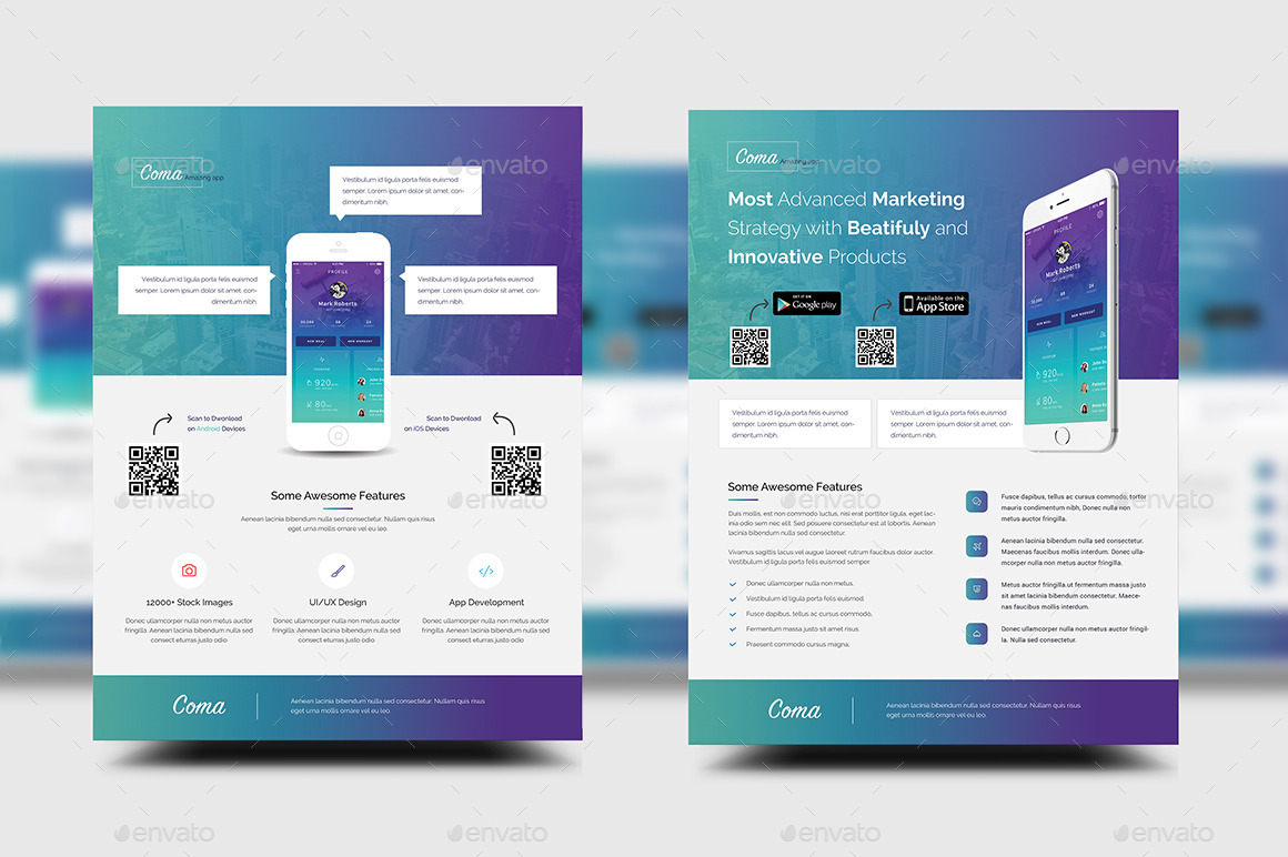 promotion templates   Rio ferdinands co mobile app promotion flyer templates by rtralrayhan graphicriver