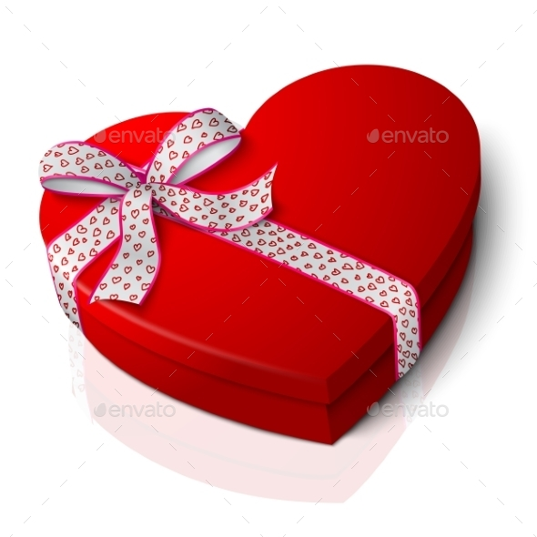 Red Heart Shape Box By Tashal GraphicRiver