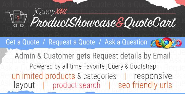 JQuery XML Product Showcase & QuoteCart
