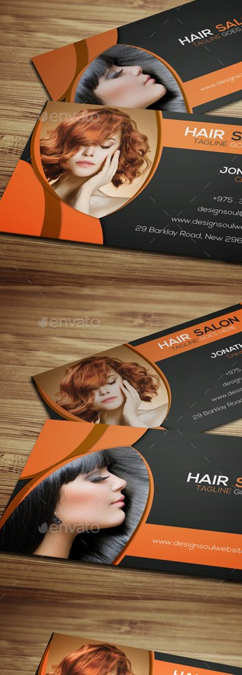 Grabs Full Pixels » Hair Salon Business Card Templates by designsoul14   GraphicRiver Hair Salon Business Card Templates   Industry Specific Business Cards