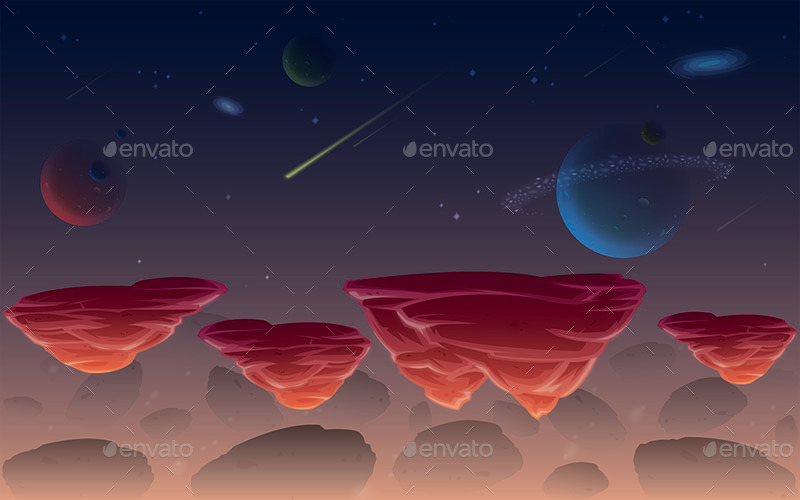 Space Candy Amp Sky Game Background By Scworkspace