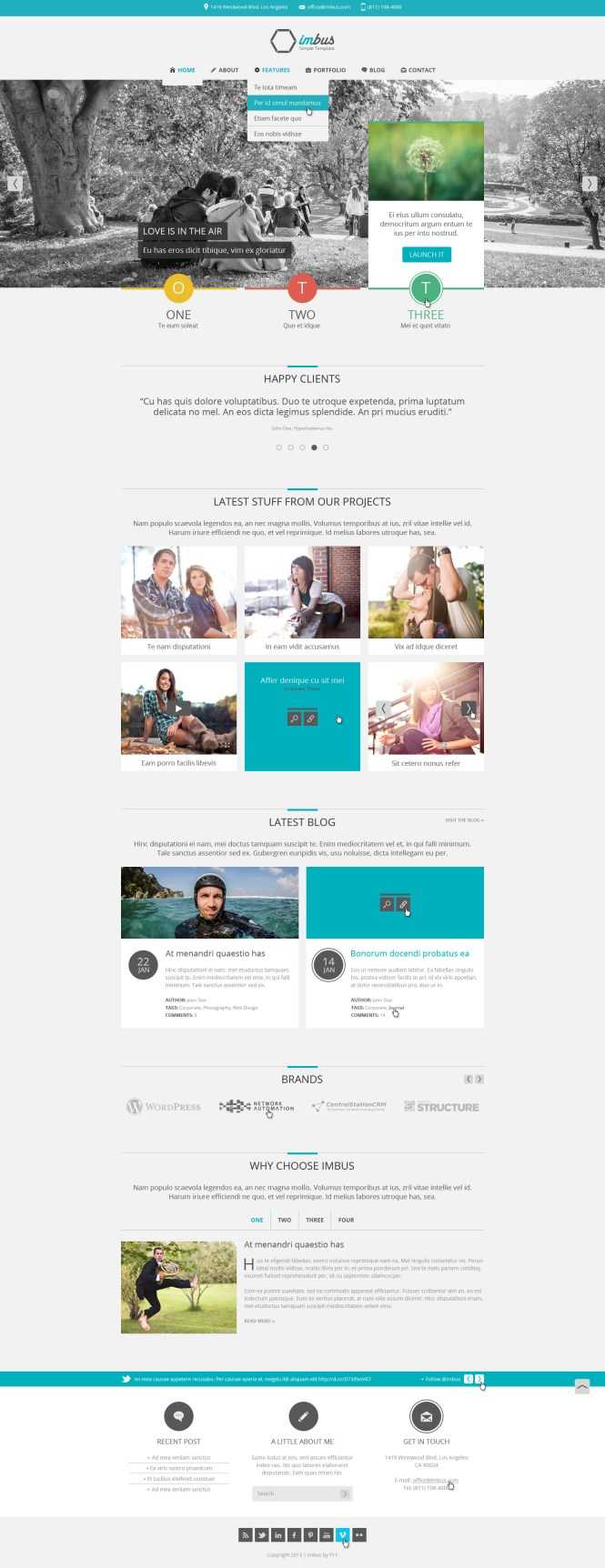 Stunning Home Page Design In Html Contemporary - Amazing House ...