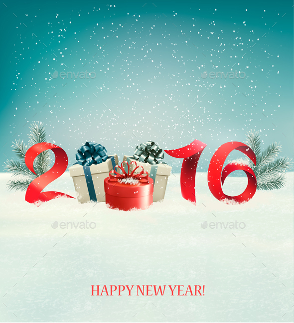Happy New Year 2016 New Year Design Template by almoond   GraphicRiver Happy New Year 2016 New Year Design Template   New Year Seasons Holidays
