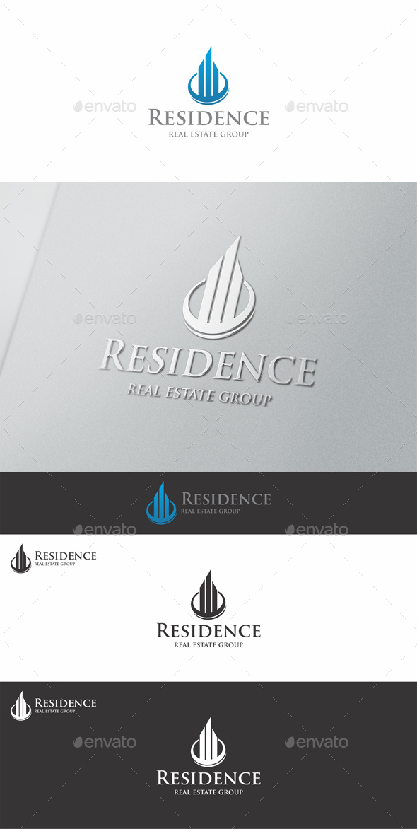 Residence Real Estate Logo - Buildings Logo Templates