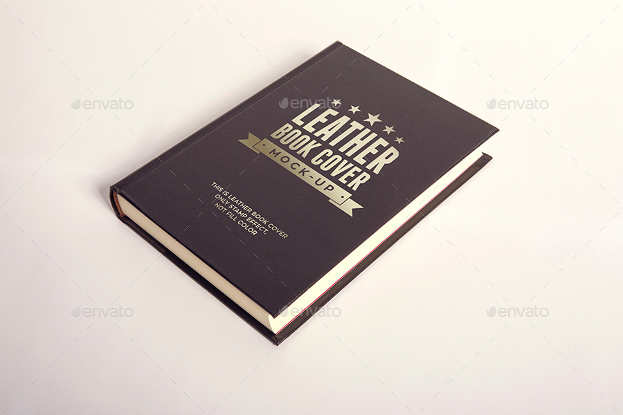 LEATHER BOOK COVER MOCK UP By Xepeec GraphicRiver