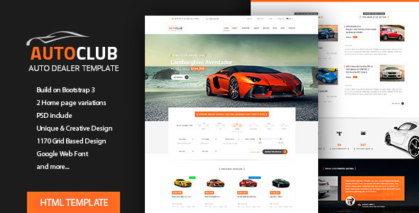 Auto Club - Car Dealer HTML Theme