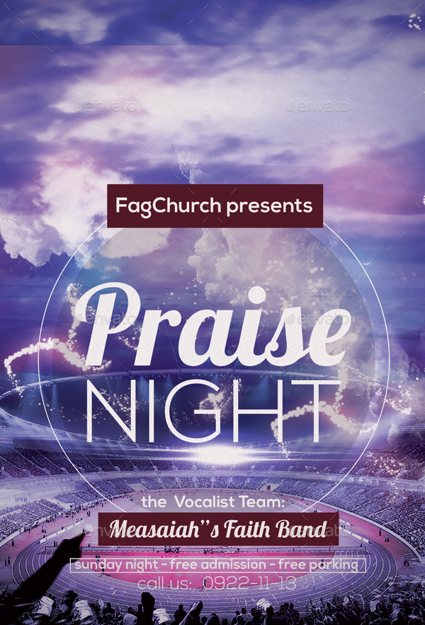 Praise Night Flyer By Anea27 GraphicRiver