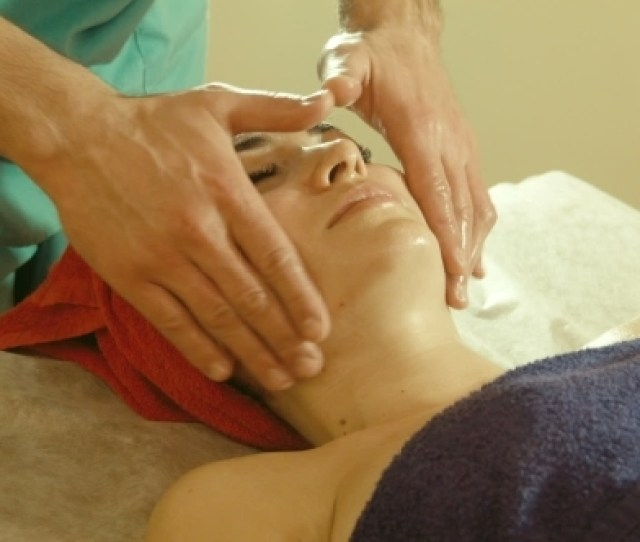 Male Doing Massage To Female In Spa Salon Stock Footage