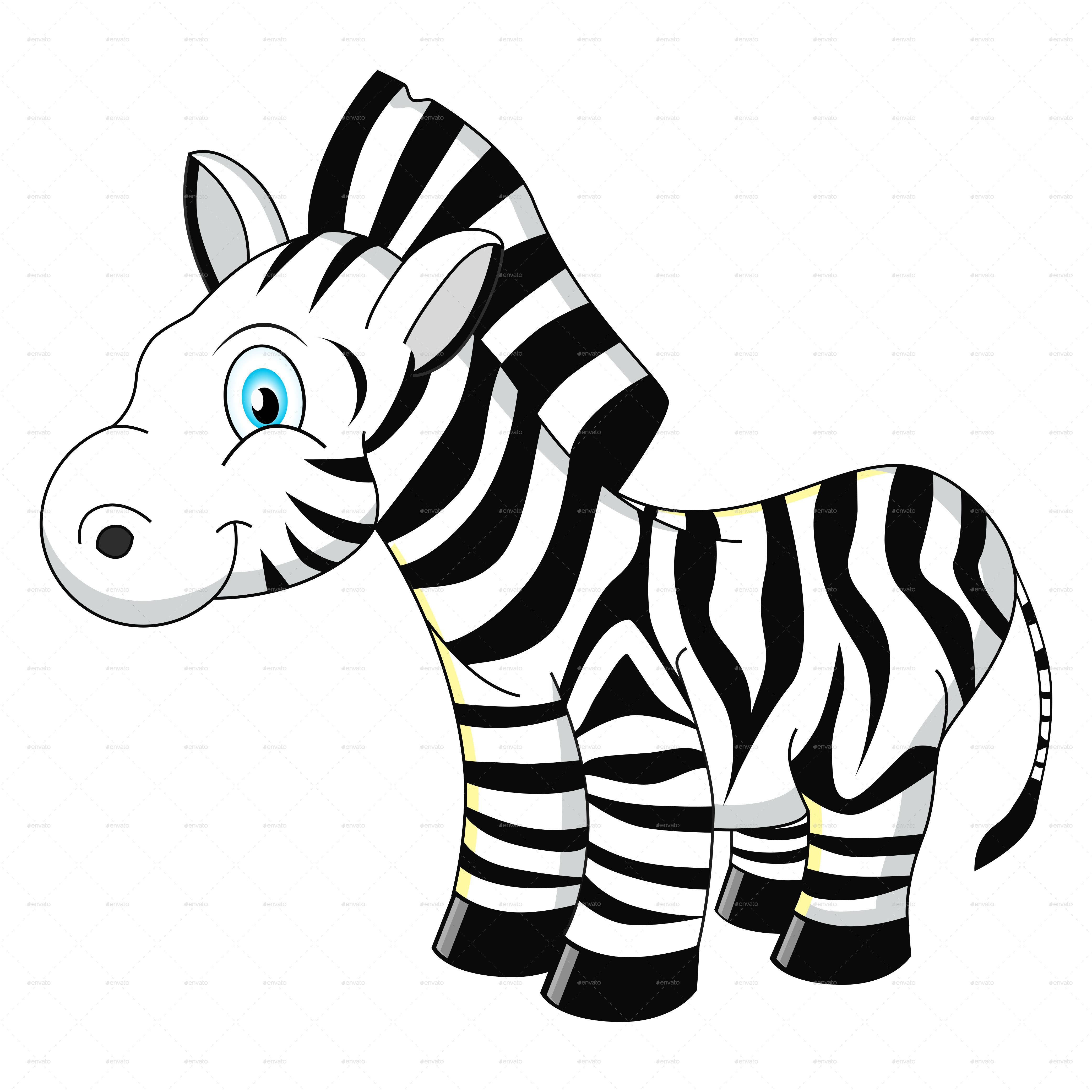 Cartoon Zebra By Yayasya