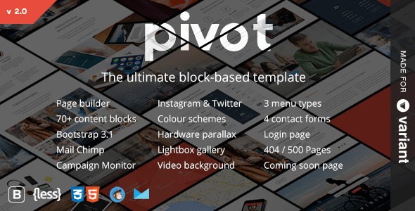 Pivot   Multi-Purpose HTML with Page Builder