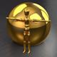 2 realistic Gold Materials (C4D R16)