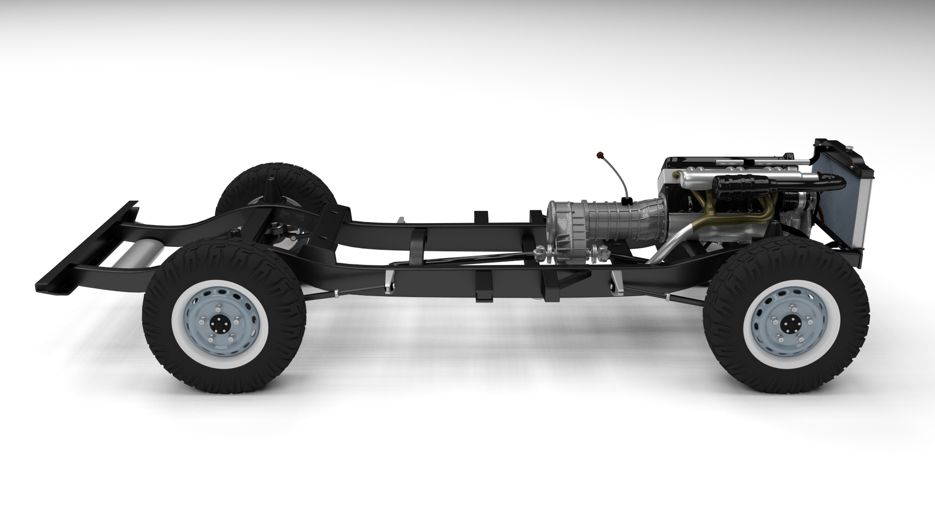 Land Rover Defender 110 Hard Top w chassis and interior HDRI by
