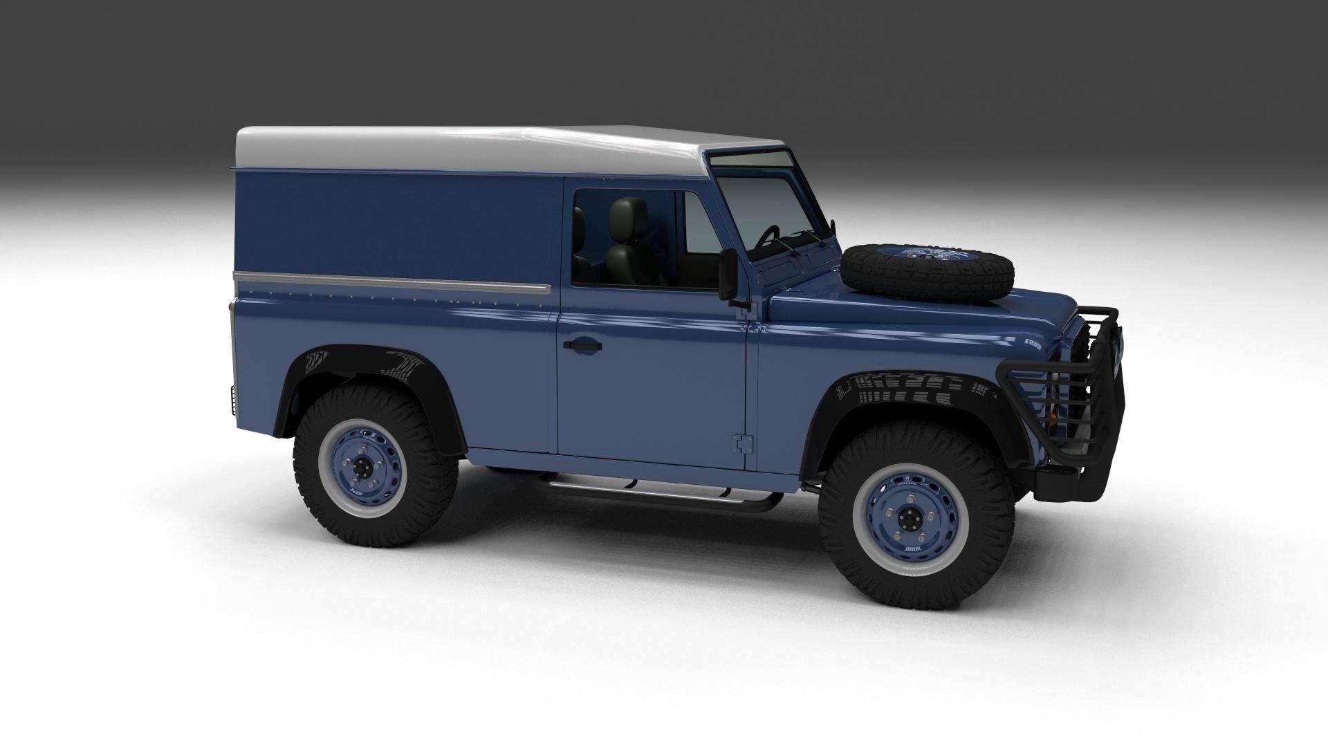 Full Land Rover Defender 90 Hard Top HDRI by dragosburian