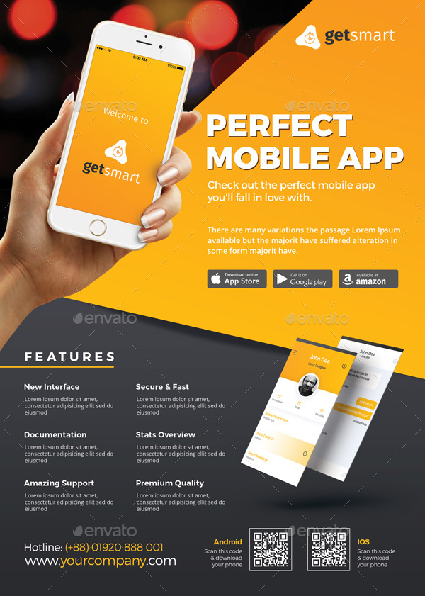 Mobile App Flyer By Themedevisers GraphicRiver