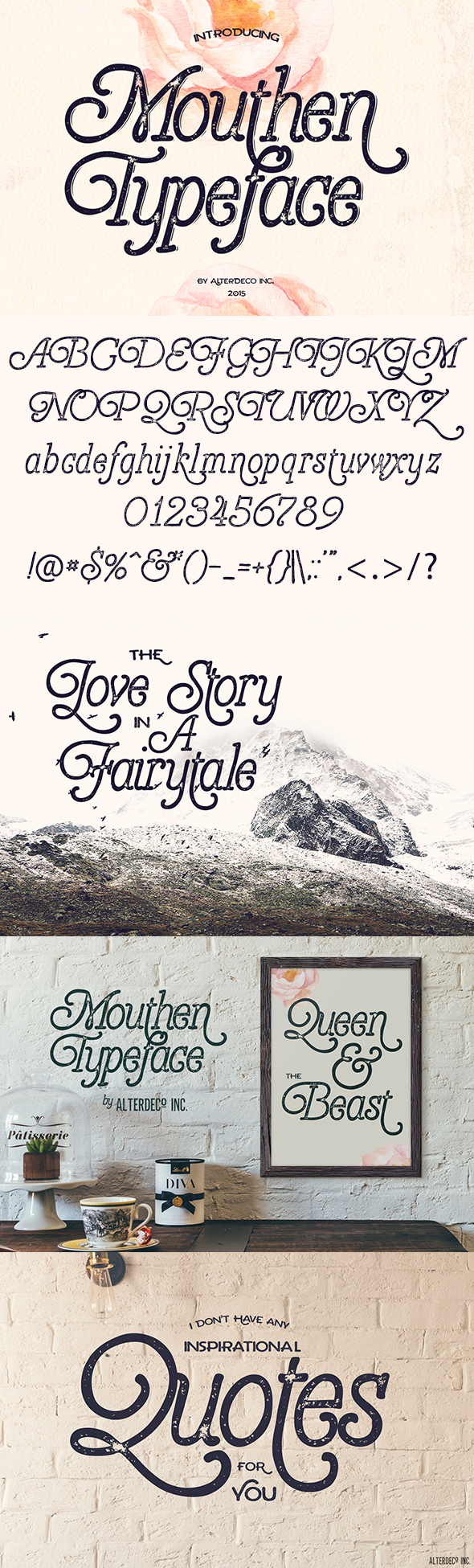 Free Font Mouthen Typeface Download