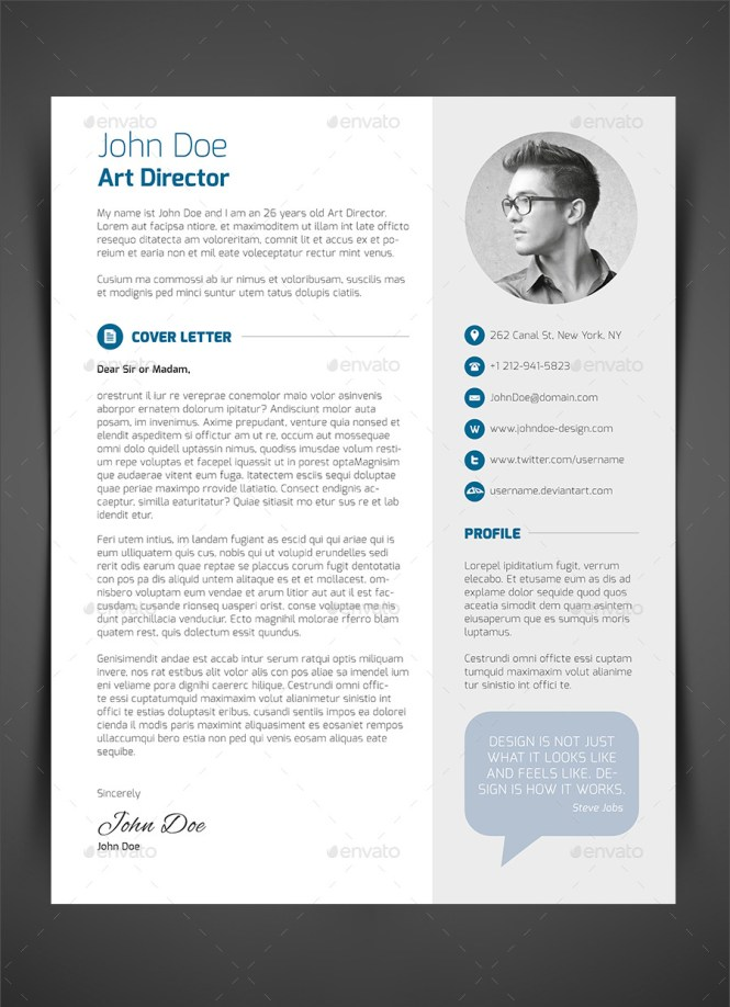 Cover Page For Resume Template
