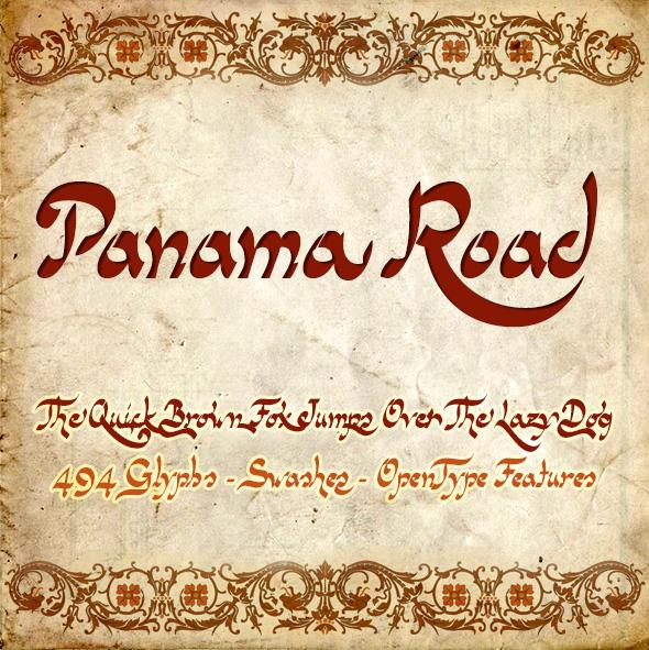 Free Font Panama Road font Download