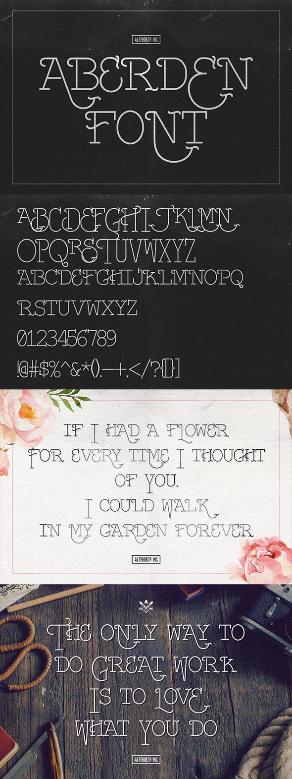 Free Font Aberden Typeface Download