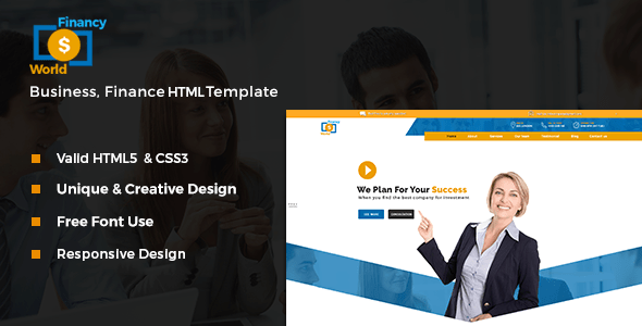 Financy World   Finance HTML Template by bexpeedstudio   ThemeForest Financy World   Finance HTML Template   Corporate Site Templates