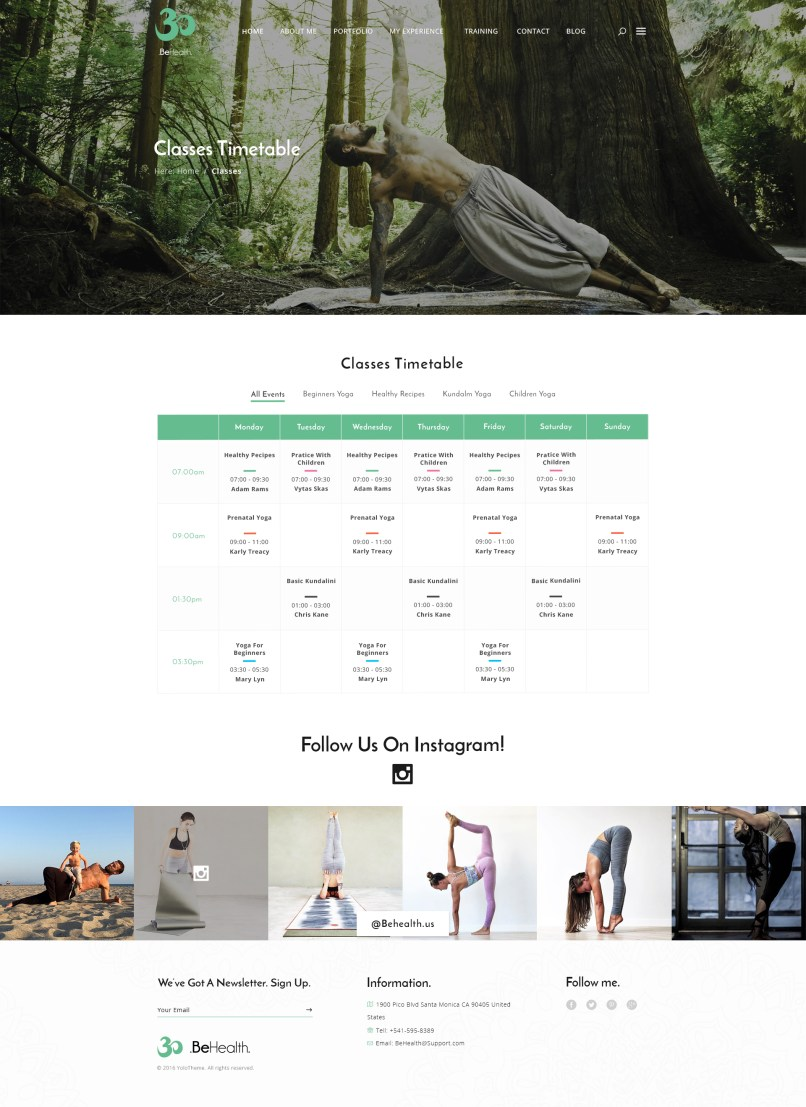 Cl Timetable Template | Yoga Tree Class Timetable Jidiworkout Co