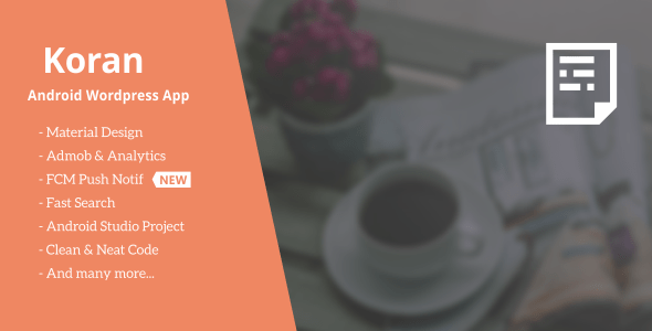 Koran - WordPress App with Push Notification 3.1 - CodeCanyon Item for Sale