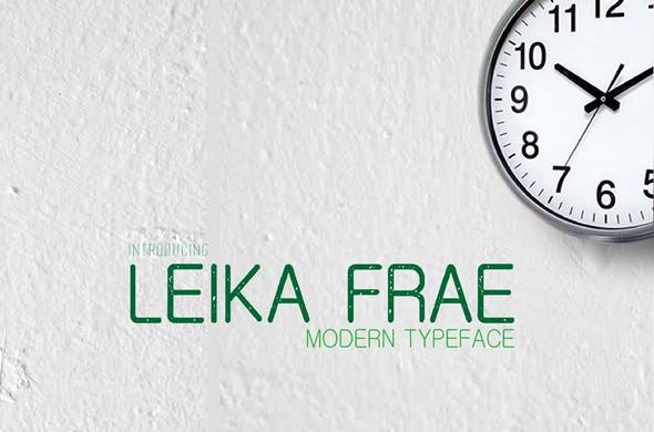 Free Font LEIKA FRAE Download