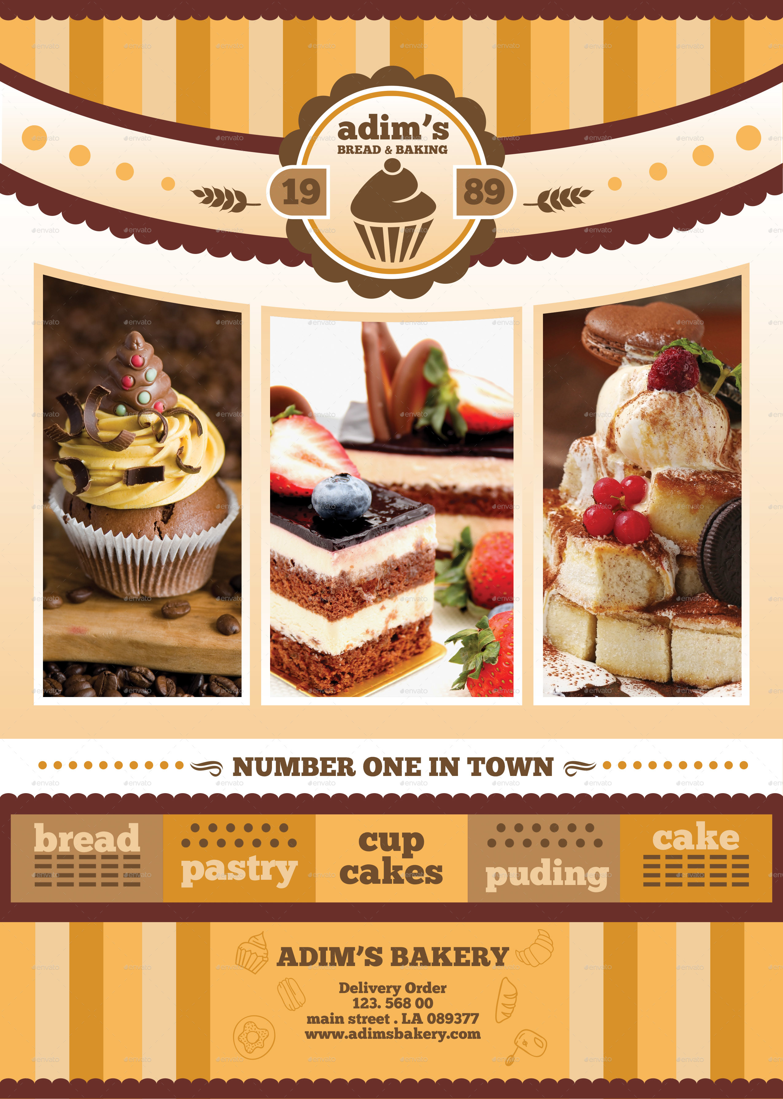 Bakery Menu Flyer Template By Adimasen GraphicRiver