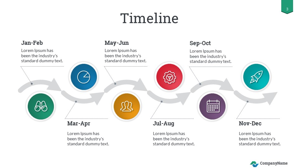 Timeline Success PowerPoint Presentation Template By SanaNik GraphicRiver