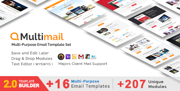 Multimail - Responsive Email Set + MailBuild Online - Newsletters Email Templates