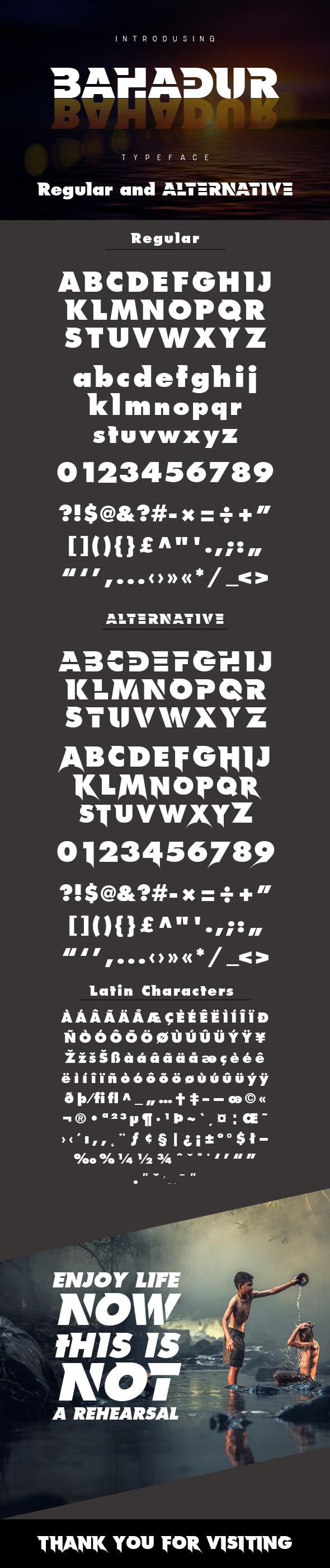 Free Font Bahadur Typeface Download