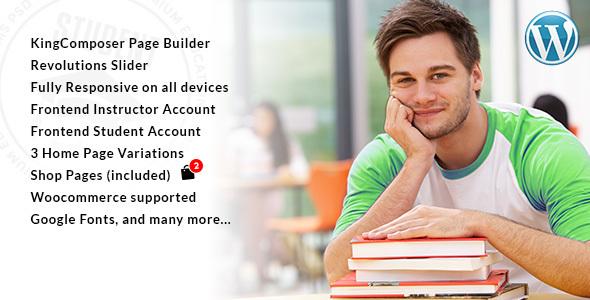 Student University LMS WordPress Themes