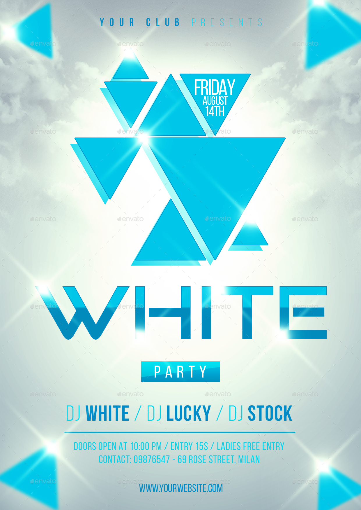 White Party Flyer Template By Lapabrothers GraphicRiver