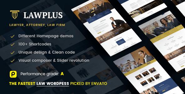 Law Plus - Law Responsive WordPress Theme (Lawyer, Law Firm, Attorney, Law Office)