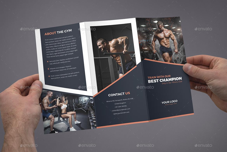Brochure Gym Tri Fold By Artbart GraphicRiver