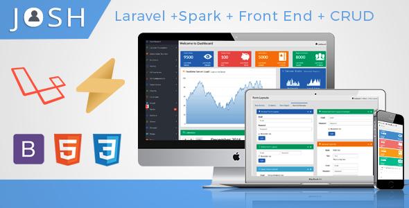 Josh - Laravel Admin Template + Front End + CRUD - Laravel VueJs