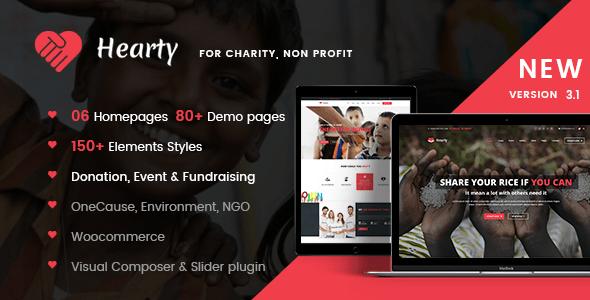 Charity WordPress Theme   Charity WP Hearty