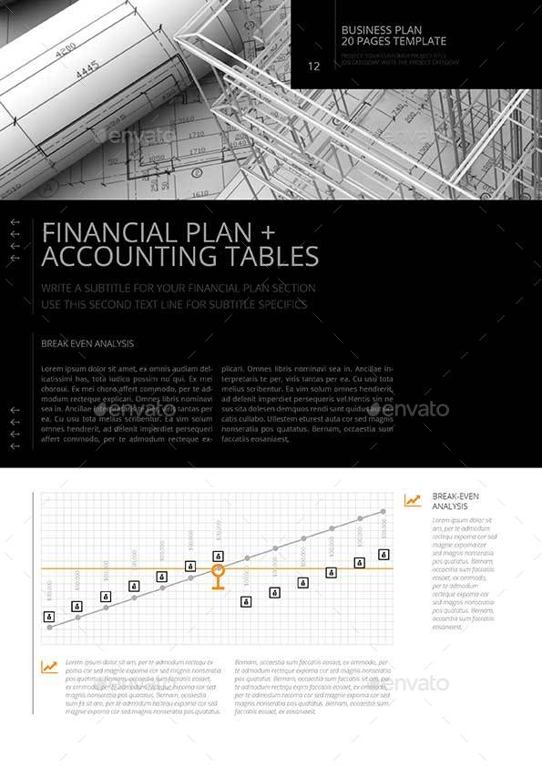 20 Pages Business Plan Template by Keboto   GraphicRiver     20 Pages Business Plan Template Preview12 jpg