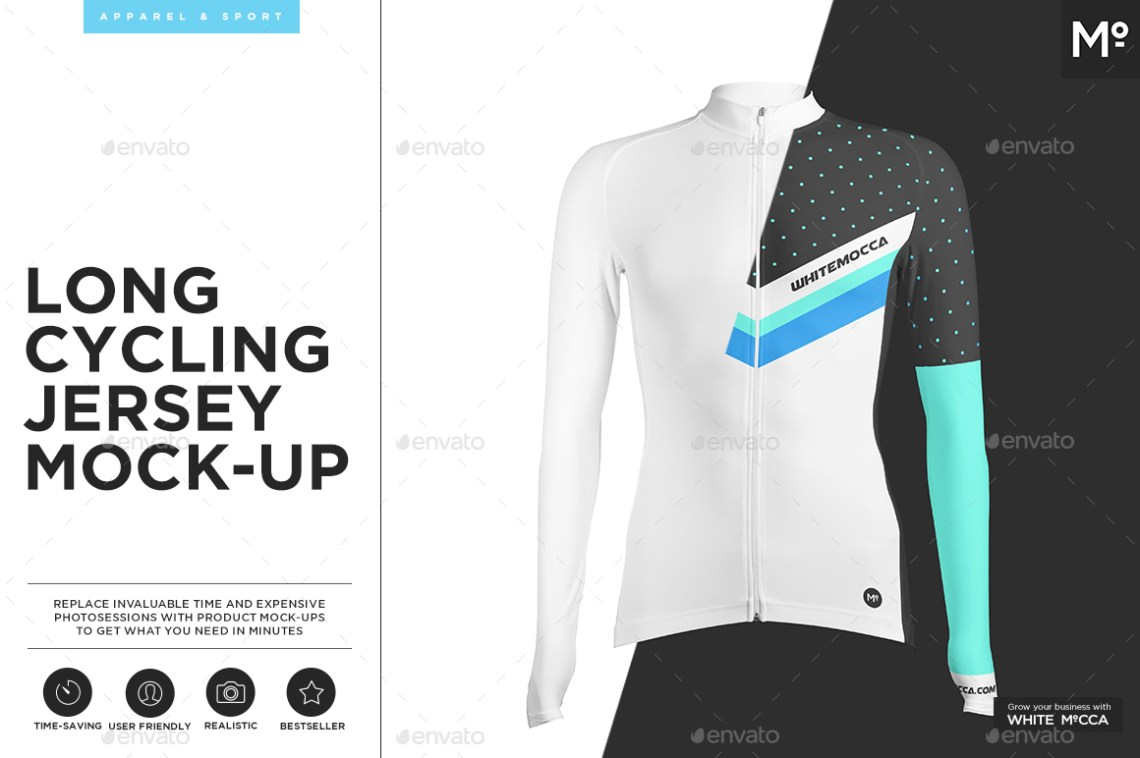 Download Long Cycling Jersey Mock-up by Mocca2Go | GraphicRiver