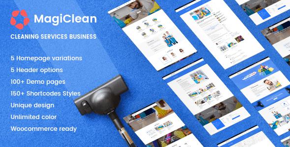 MagiClean   Cleaning Company WordPress Theme