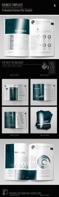 Professional Business Plan Template by Keboto   GraphicRiver Professional Business Plan Template   Miscellaneous Print Templates
