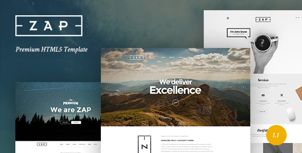 ZAP - Multi-Purpose HTML5 Template